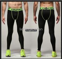 Men's Skinny Leggings Compression Jogging Running Pants Sports Trainers