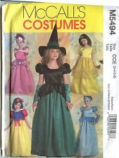 McCall's Sewing Patterns M5494 Princess and Witch Costumes Child's Size 3-6