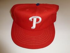 Genuine New Vintage Philadelphia Phillies Hat Cap in Red  by Annco- Made in USA