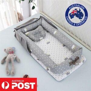 Newborn Unisex Portable Baby Bag Nest Travel Cotton Cradle Crib Bed Bassinet