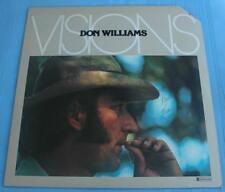 """Original 1977 Don Williams """"Visions"""" LP Signed by Williams On the Cover"""