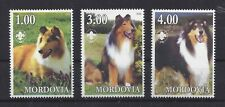 Dog Postage Stamp Collection Photo Body Studies Rough Coated Collie 3 x Mnh B