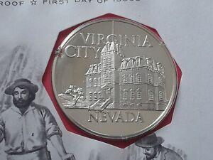 1972 Franklin Mint, proof silver medal NEVADA- VIRGINIA CITY