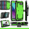 For Samsung Galaxy J3 2017/Emerge/Prime/Luna Pro Case Hybrid Holster Stand Cover