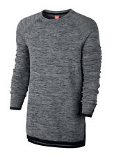 Nike Tech Knit Crew Neck Sweater Sweatshirt Pullover Grey Size XS 832182 091