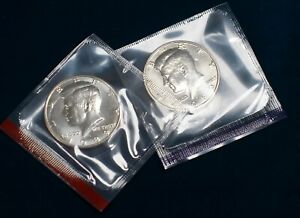 1989 P+D KENNEDY HALF DOLLAR UNCIRCULATED IN MINT CELLO