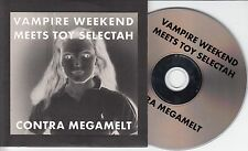 VAMPIRE WEEKEND Contra Megamelt 2010 US 3-track promo CD