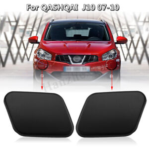 Left & Right Headlight Washer Nozzle Jet Cover Cap For Nissan Qashqai J10