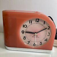 Big Ben Moon Beam Pink Alarm Clock Westclox MCM Art Deco Look 43000
