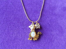 Betsey Johnson Authentic NWT Silver-Tone Crystal Monkey Pendant Necklace