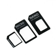 3 in 1 Nano SIM to Micro Standard SIM MICROSIM Adaptor Adapter for iPhone 5 #~