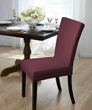 "CLEARANCE !! SUBWAY TILE ""STRETCH"" DINING CHAIR COVER BURGUNDY-COMES IN 4 COLORS"