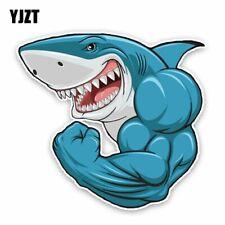Decals Sticker Cartoon Shark Showing Teeth 01777 Vehicle st5 ZZ777