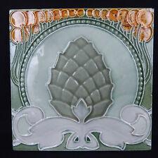 ancien carreau en faience art nouveau / antique tile c1900 jugendstil