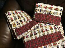Fun unusual Tommy Hilfiger king size sheets  & 2 Sets of cases,red plaid/coats o