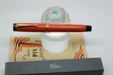 NOS PARKER DUOFOLD SR Fountain Pen Big Red Streamlined UNUSED box papers BIG nib