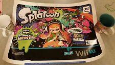 Nintendo Wii U Splatoon Promotional Poster *Rare*