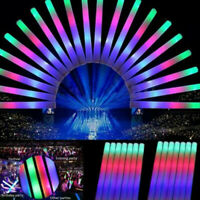 30PCS Light Up Foam Sticks LED Wands Rally Rave Batons DJ Flashing Glow Stick