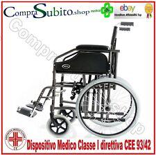 Sedia a rotelle carrozzina comoda Slim per spazi stretti no wc disabili anziani