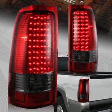 For 1999-2006 Chevy Silverado 1500 2500 LED Red/Smoke Lens Rear Tail Lights Lamp