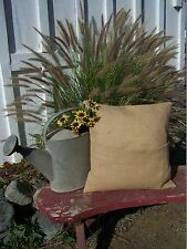 Burlap Pillow 16x16 Throw Decorative French Country Farmhouse covers 1pc
