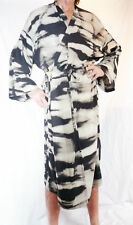 Negro Kimono/Bata, hecho a mano Batik Material, NUEVO