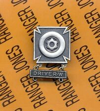 US Army DRIVER w/ WHEELED Vehicle Tab Qualification badge award pin