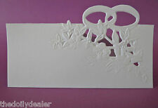 WEDDING / ENGAGEMENT  PLACE NAME CARDS WHITE  X 8 REDUCED PRICE CLEARANCE