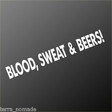 Blood Sweat & Beers Gas Fast N Loud Hot Rod VW Euro Monkey  Van Sticker decal