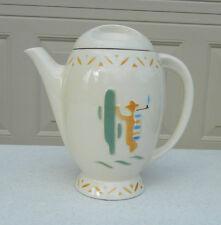 Vintage Porcelier Vitreous China Teapot / Coffee Pot With Lid