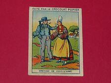 CHROMO PUPIER 1930 ALBUM JOLIES IMAGES SERIE 9 COSTUMES BRETAGNE PONT-L'ABBE