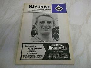 Football Programme 1963 Hamburger SV v Arsenal Friendly Plus Ticket HSV-Post