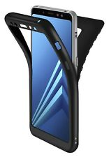 Coque Galaxy A8 2018 Noir , ivencase Protection Housse Etui Silicone
