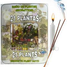 SPIRITUAL PLANT BATH:21 PLANTS-21 PLANTAS Herb Wash Bano Despojo Limpia Santeria
