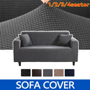 Sofa Cover Couch Lounge Protector Slipcovers 1/2/3/4 Seater Super Stretch Covers