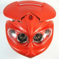 Head Light Fairing Motorcycle Dual Sport Lamp Street Fighter Headlight Red