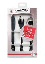 3pc Children's Cutlery Set Stainless Steel Spoon,Fork,Knife Dinner Utensil Set