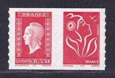 FRANCE AUTOADHESIF N°   66 ( 3841 ) P66, Paire H1 ** MNH, Marianne de Dulac, TB