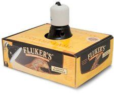 "Black 5.5"" Deluxe Clamp Lamp Fixture - Fluker's Reptile Terrarium Heat Light New"