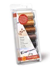 Gutermann 100 Percent Viscose Rayon 40 Machine Embroidery Thread Set Coffee