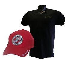 MARINE BLACK COMBO ( T SHIRT BLACK XL & CAP RED) NEWS (S-M-L-XL0