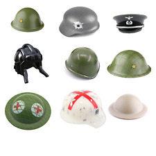 WWII WW2 ARMY Helmets & Hats Printed Pieces for Lego Minifigures accessories