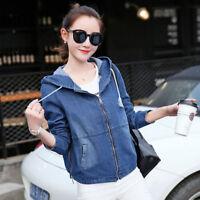 New Long Sleeve Vintage Outwear Women Casual Loose Denim Jacket Short Jeans Coat