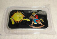 Sunshine Day to Night Enameled Black 1 oz .999 Silver Bar CMG Mint