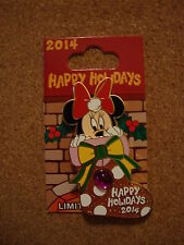 Disney Pin 2014 Happy Holidays Minnie Mouse Stocking Slider LE