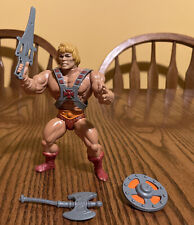 Vintage 1982 MOTU  Soft Head HE-MAN Figure (MEXICO) Complete with weapons!