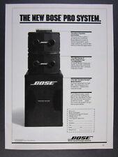 1984 Bose Pro Sound System 802 Series II 302 Bass vintage print Ad