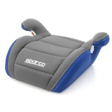 Sparco F100K Child seat for car, GREY / BLUE Safety Lifter Seat for Children
