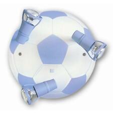 Kinderlampe Kinderleuchte Deckenleuchte Fußball hellblau/weiß 3-flg [A++]