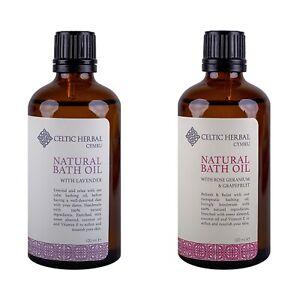 Celtic Herbal Bath Oil Multipack | Lavender | Rose Geranium & Grapefruit